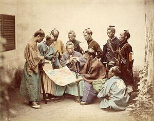 סמוראים מסאצומה לוחמים לצד הצבא הקיסרי ברסטורציה של מייג'י