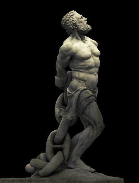 כל העוולות אחת הן - פסלו של פרומתיאוס הכבול