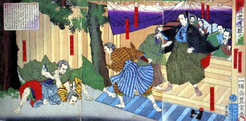 """ניסיון התנקשות מפורסם באיטגאקי טייסוקה, מנהיג מפלגת החירות, בתום עצרת ב-1882. לפי האגדה, אמר המנהיג הפצוע כי """"איטגאקי אולי ימות, אך החירות תחייה לעד."""""""