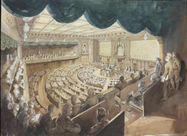 מקום מסוכן - מליאת הפרלמנט הקיסרי בטוקיו