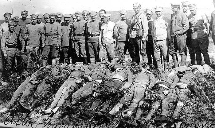 להגן על הגדודים הצ'כיים - חיילים צ'כים מוצאים להורג בידי הבולשביקים בוולדיווסטוק