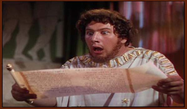 נירון קורא את מכתבו האחרון של פטרוניוס