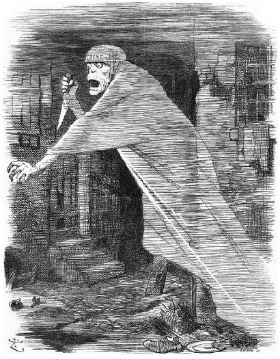 ג'ק המרטש כרוח רפאים - קריקטורה בעיתון Punch