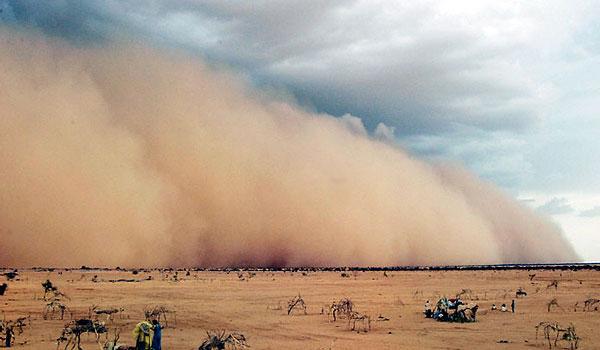 סופת המדבר הלוהטת - לפי הקוראן, זהו כור יצירתם של הג'ינים