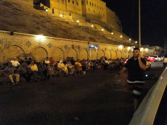 המצודה של ארביל, בלילה