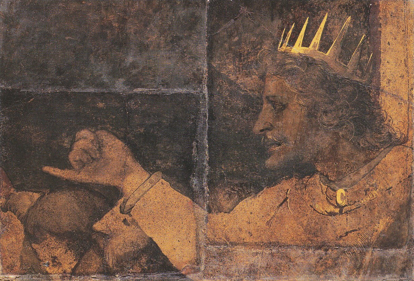 רחבעם מלך יהודה - ציור קיר מבאזל.
