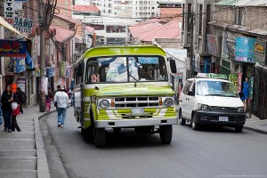 הנהגים יודעים ראשונים - אוטובוס בלה-פאז, בוליביה