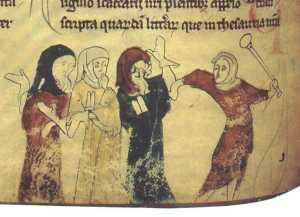 היו יכולים להיחלץ מרדיפות, אם התנצרו. ייצוג של יהודים בימי הביניים.